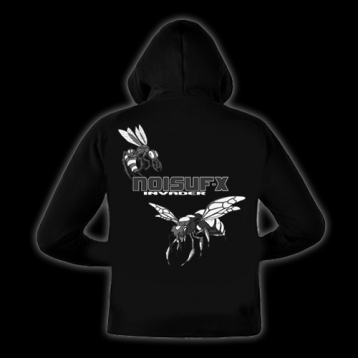 NOISUF-X - Invader Hooded Zipper grau/weiss